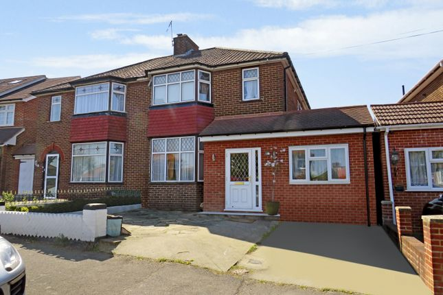 Thumbnail Semi-detached house for sale in Ashness Gardens, Greenford, Middlesex