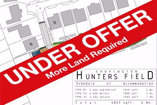 Thumbnail Land for sale in Huntersfield, Shavington, Crewe