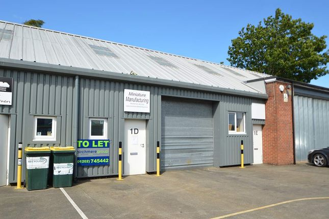 Thumbnail Warehouse to let in Unit 1D, Old Street, Wimborne
