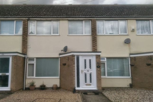 Thumbnail Terraced house to rent in Diamond Close, Ipswich