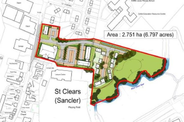 Thumbnail Land for sale in Station Road, St Clears, Carmarthenshire, Wales