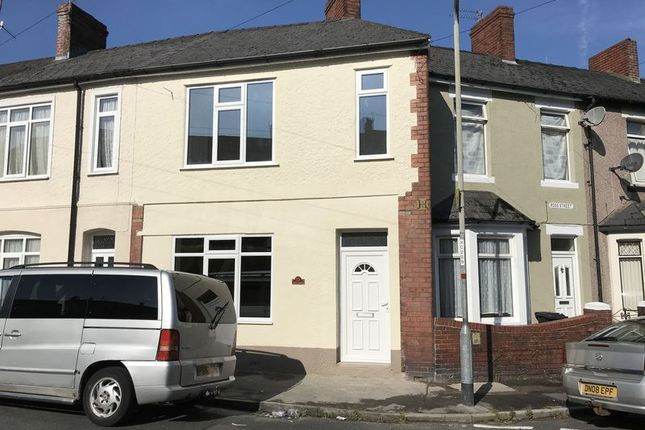 Thumbnail End terrace house to rent in Aston Crescent, Newport