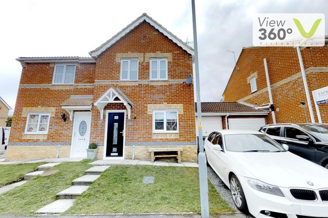 Thumbnail Semi-detached house for sale in Walton Crescent, St. Helen Auckland, Bishop Auckland