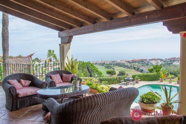 Terrace of Duquesa Villas, Duquesa, Manilva, Málaga, Andalusia, Spain