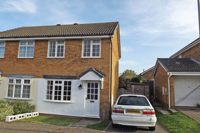 Thumbnail Semi-detached house for sale in Barker Close, Lawford, Manningtree