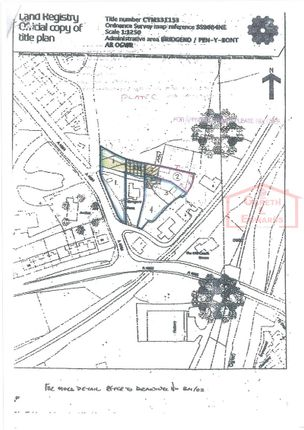 Thumbnail Land for sale in Abergarw Farm Site, Brynmenyn, Bridgend.