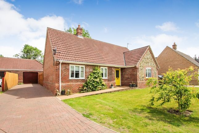 Thumbnail Detached bungalow for sale in Priors Grove, Yaxham, Dereham