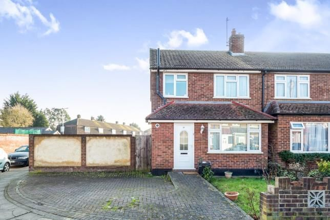 Thumbnail End terrace house for sale in Frinton Road, Collier Row, Romford