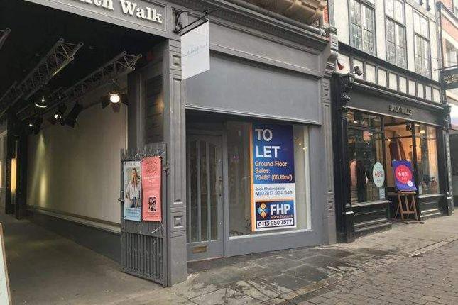 Thumbnail Retail premises for sale in 15 Bridlesmith Gate, Bridlesmith Gate, Nottingham