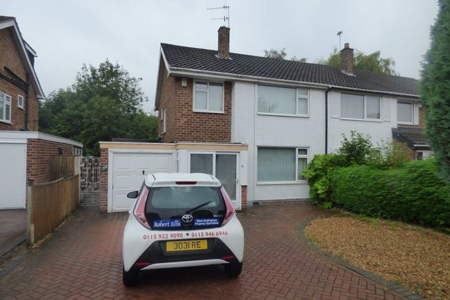 Thumbnail Semi-detached house to rent in Wroxham Drive, Wollaton