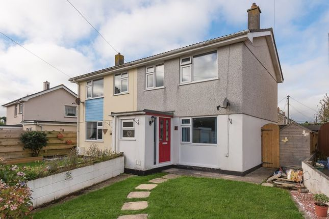 Thumbnail Semi-detached house for sale in Pendrea Park, North Roskear, Camborne