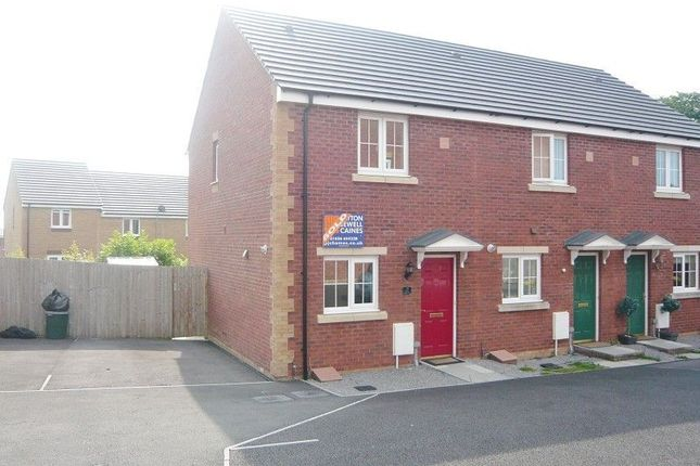 Thumbnail End terrace house to rent in Clos Y Cydyll Coch, Broadlands, Bridgend.