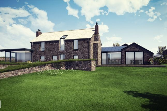 Thumbnail Barn conversion for sale in Build Your Dream Home With Land, Trenance Downs, St. Austell, Cornwall