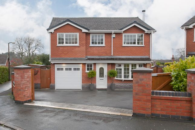 Thumbnail Detached house for sale in Kingfisher Crescent, Fulford, Stoke-On-Trent