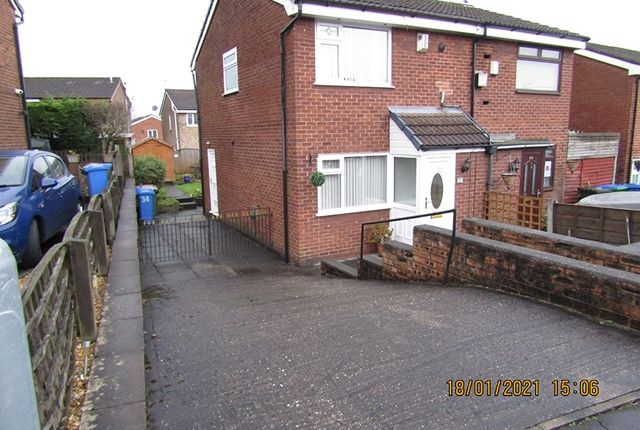Thumbnail 2 bed semi-detached house for sale in Willow Avenue, Middleton, Manchester