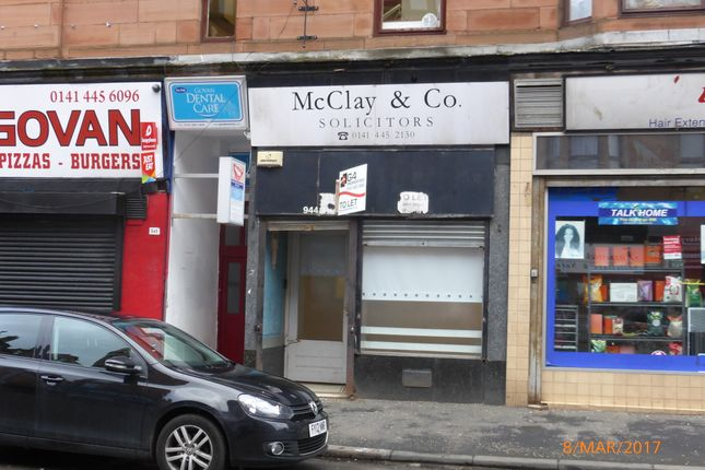 Retail premises to let in Govan Road, Glasgow
