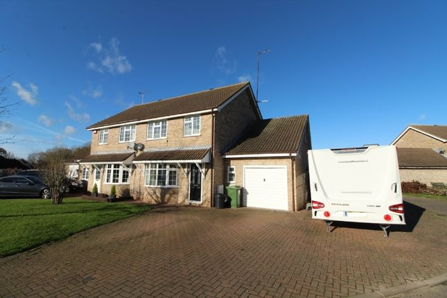 Thumbnail Semi-detached house for sale in Sitwell Close, Newport Pagnell, Buckinghamshire