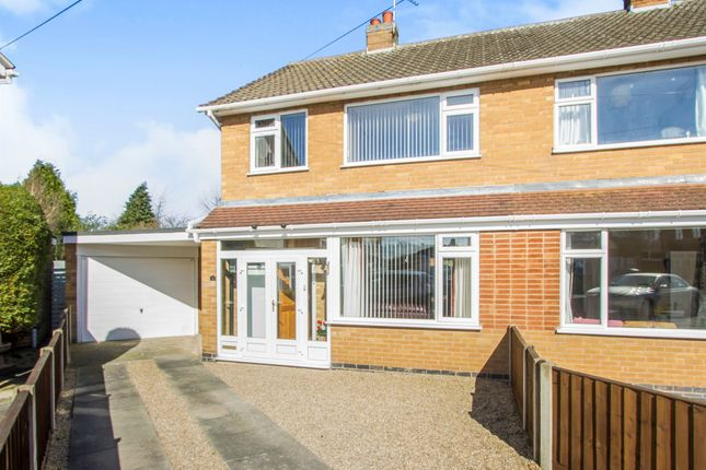 Thumbnail Semi-detached house for sale in Lichfield Drive, Blaby, Leicester