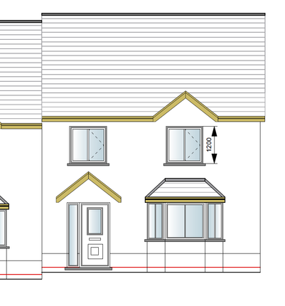Thumbnail Semi-detached house for sale in Site Opposite Brogeler Estate, Llangeler, Carmarthen