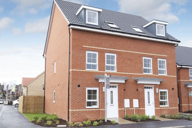 "Thumbnail Semi-detached house for sale in ""Padstow"" at Station Road, Methley, Leeds"