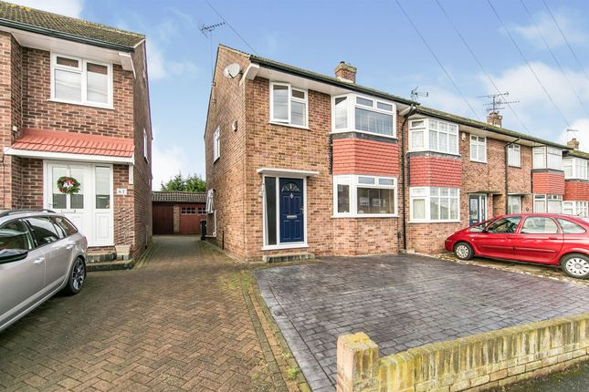 Thumbnail End terrace house for sale in St. Anthonys Drive, Chelmsford