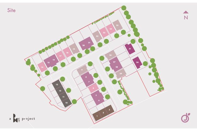 Site Plan of The Sunrise, Jacques Orchard, South Normanton DE55