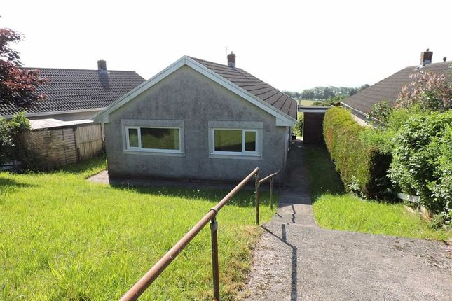 Thumbnail Detached bungalow for sale in The Ashes, Meinciau, Kidwelly