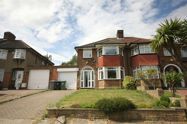 Thumbnail Semi-detached house for sale in Basing Hill, Wembley, Greater London