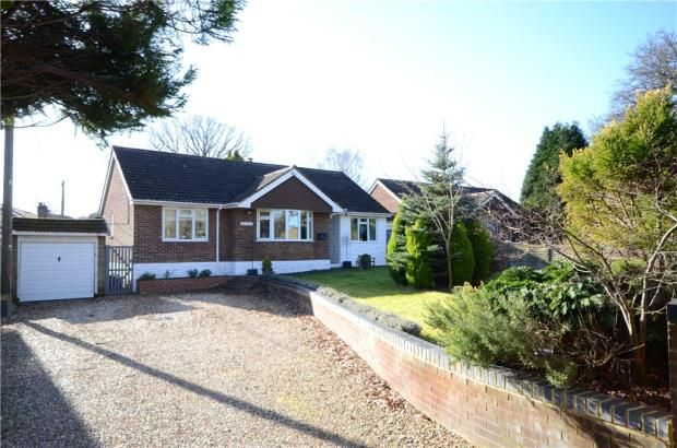 Thumbnail Detached bungalow for sale in Tweseldown Road, Church Crookham, Fleet