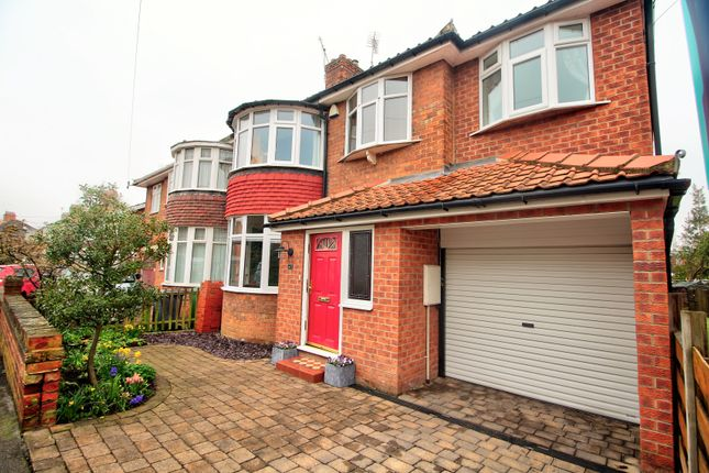 Thumbnail Semi-detached house for sale in Manor Drive North, York