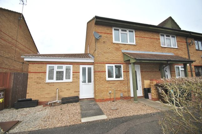Thumbnail End terrace house to rent in Bradman Way, Stevenage