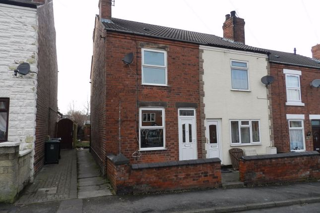 Thumbnail End terrace house to rent in Priory Road, Alfreton, Derbyshire