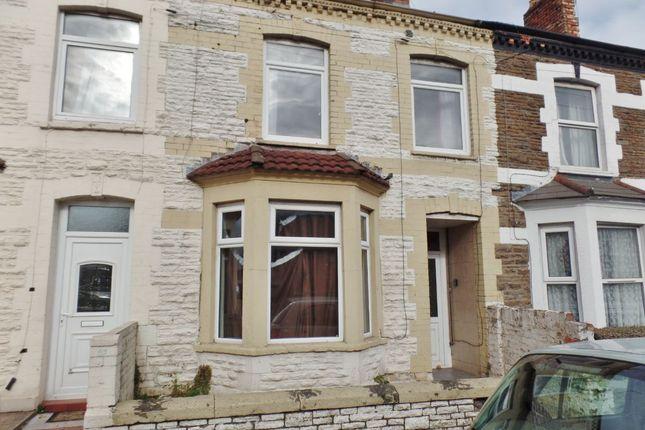 Thumbnail Terraced house for sale in Railway Street, Splott, Cardiff