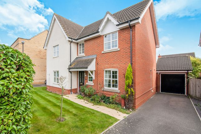 Thumbnail Detached house for sale in Swift Drive, Stowmarket