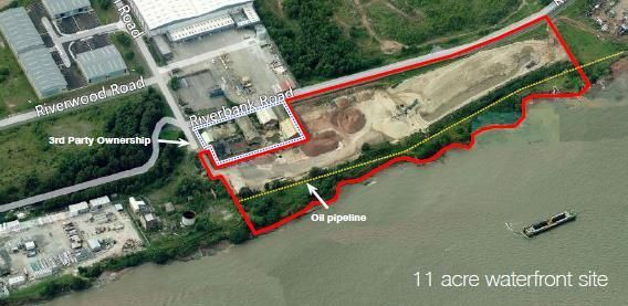 Land to let in Bromborough Sands, Riverbank Road, Bromborough, Wirral