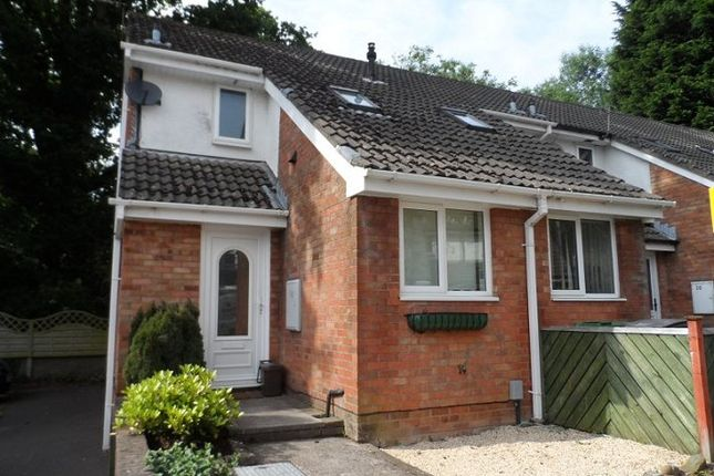 Thumbnail End terrace house to rent in The Dell, Old St Mellons, Cardiff