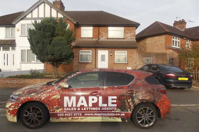 Thumbnail Semi-detached house to rent in Silver Close, Harrow, Middlesex