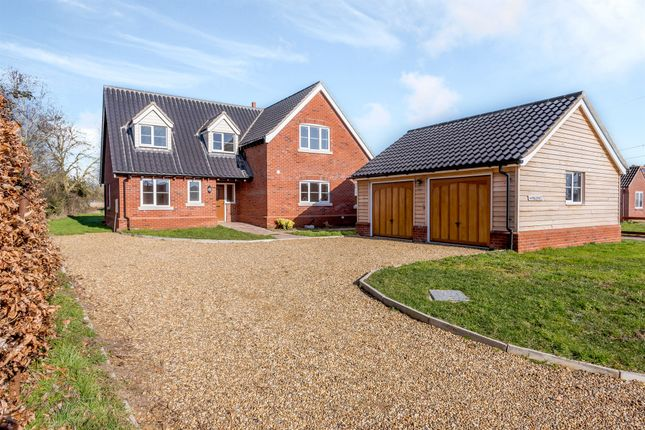 Thumbnail Detached house for sale in Station Road, Flordon, Norwich