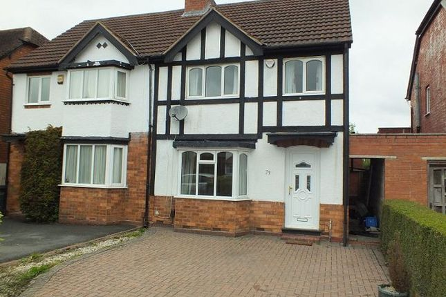Semi-detached house to rent in Hazeloak Road, Shirley, Solihull