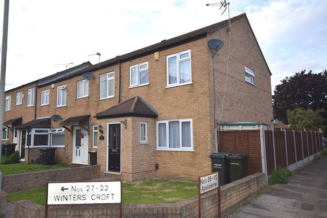 Thumbnail End terrace house for sale in Winters Croft, Gravesend, Kent