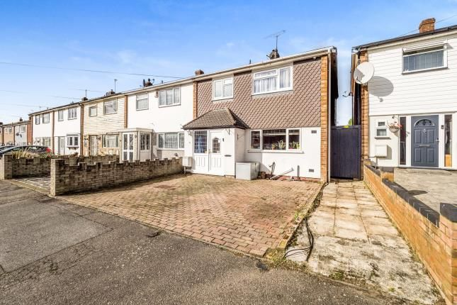 Thumbnail End terrace house for sale in Collier Row, Romford, Essex