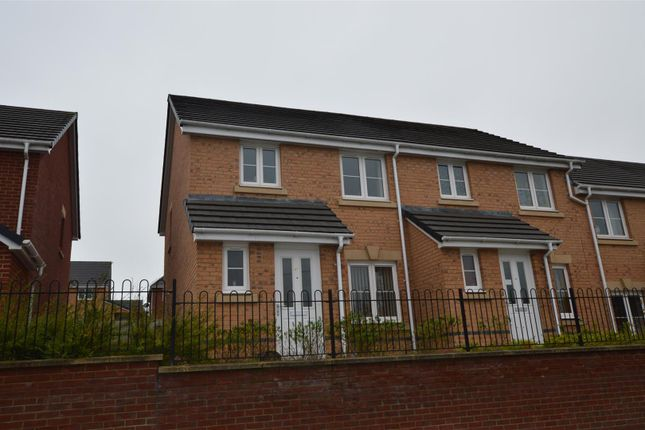 Thumbnail End terrace house for sale in Ffordd Y Dolau, Llanharan, Pontyclun