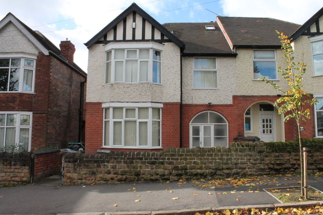 Thumbnail Semi-detached house to rent in Harlaxton Drive, Lenton, Nottingham