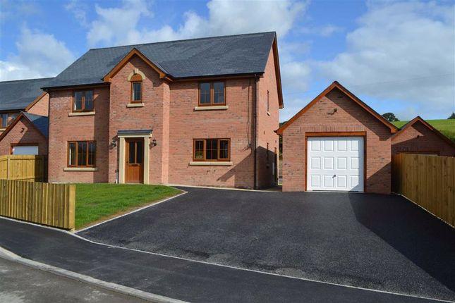 Thumbnail Detached house for sale in Plot 10 Plas Trannon, Trefeglwys, Caersws, Powys