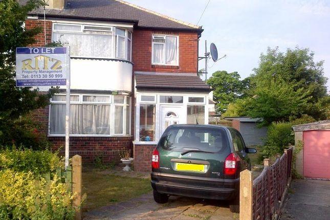 Thumbnail Semi-detached house to rent in Stainburn Gardens, Moortown, Leeds