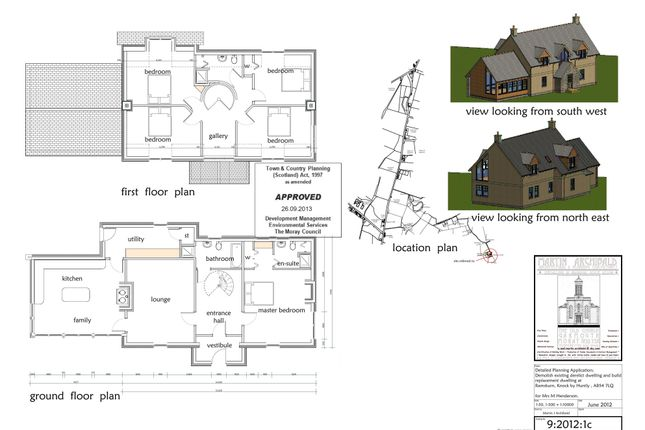 Floor Plans of Knock, Huntly AB54