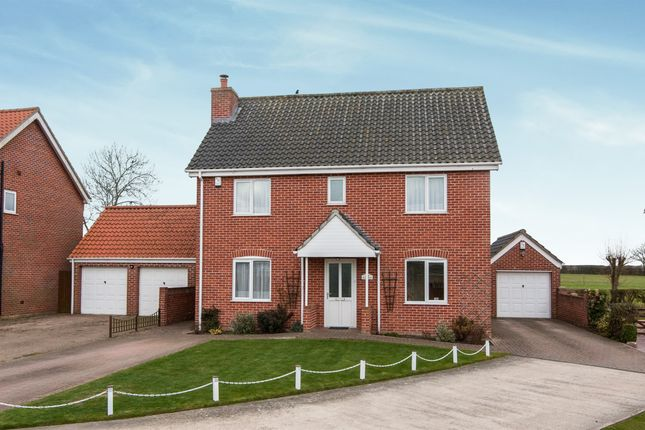 Thumbnail Detached house for sale in Ellery Drive, Tibenham, Norwich
