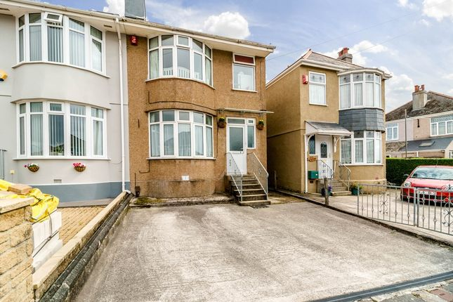 Thumbnail Semi-detached house for sale in Merrivale Road, Beacon Park, Plymouth