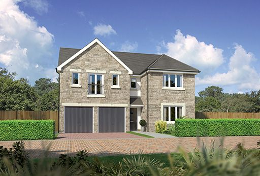 "Thumbnail Detached house for sale in ""Kingsmoor"" at East Calder, Livingston"