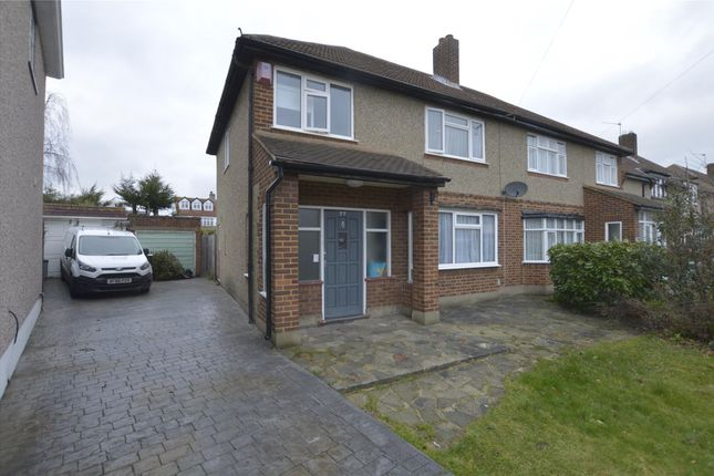 Thumbnail Semi-detached house to rent in Dee Way, Rise Park, Romford